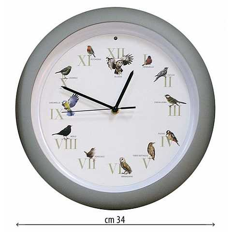 BIRD CALL CLOCK -  BIG