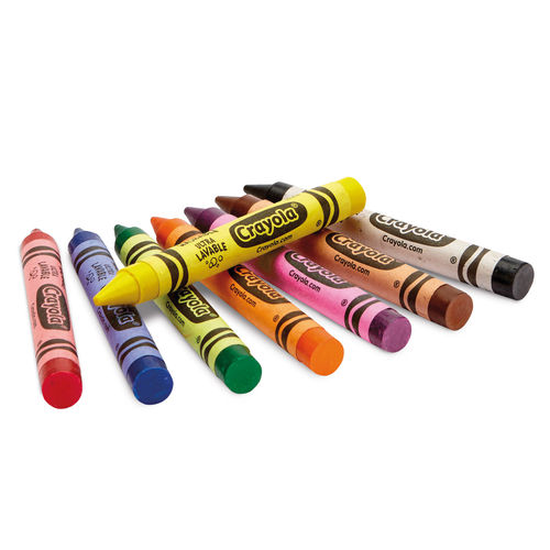 8 Ultra Clean Washable Large Crayons