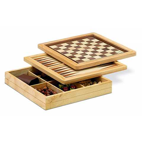 3 games: checkers, chess, BACKGAMMON