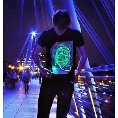 Adults Glow In The Dark Interactive T-shirt L