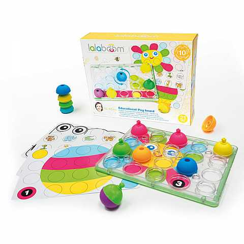 LALABOOM educational peg board