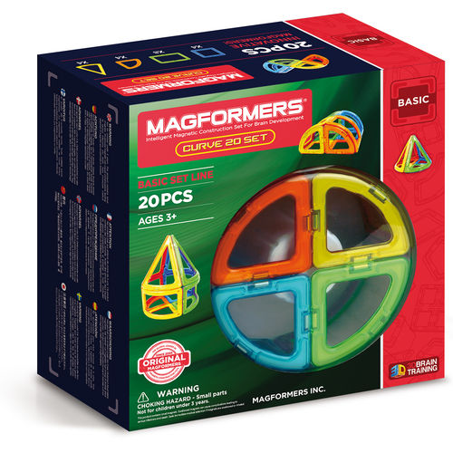 MAGFORMERS CURVE 20
