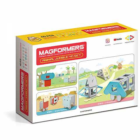 MAGFORMERS ANIMALI MAGNETICI 40PZ