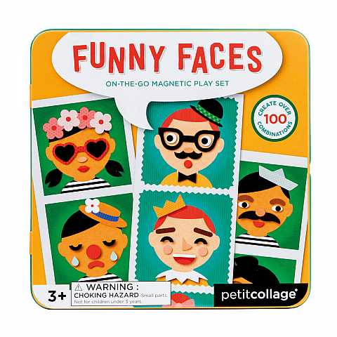 Funny faces: on-the-go magnetic play set
