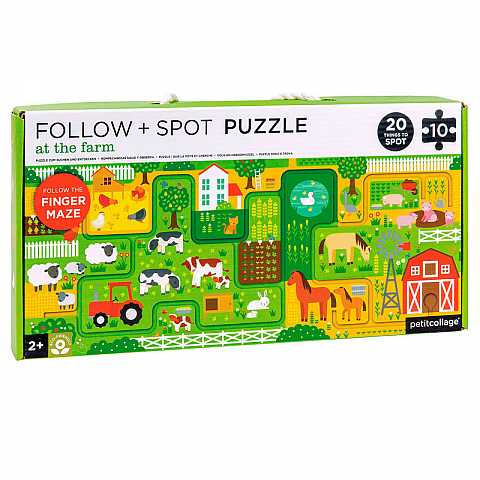 Follow + spot puzzle: at the farm
