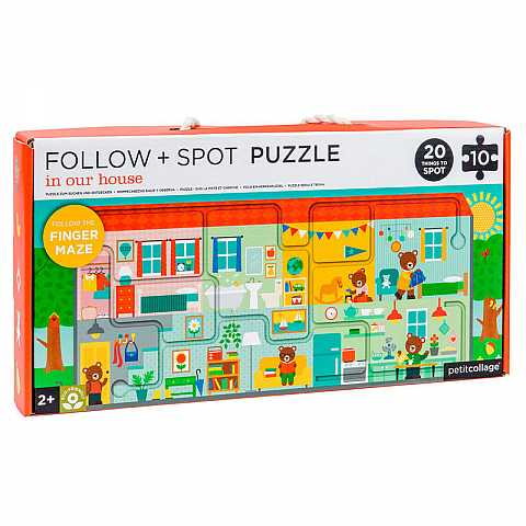 Follow + spot puzzle: in our house