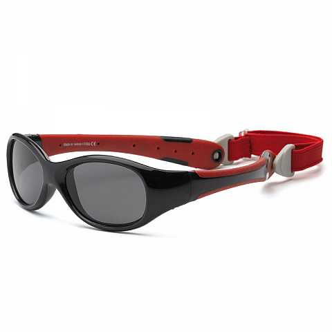 Red and black Kid sunglasses T0