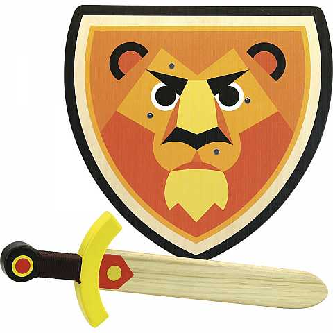 Lion shield and sword