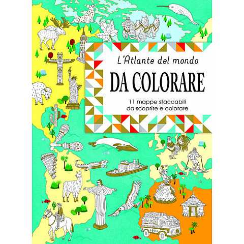 ATLANTE MONDO DA COLORARE