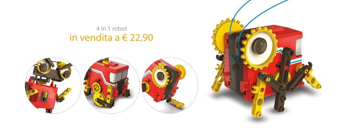 4 in 1 robot in vendita a 22,90 Euro.
