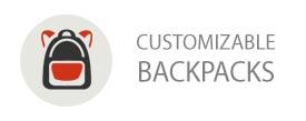 Customizable backpacks