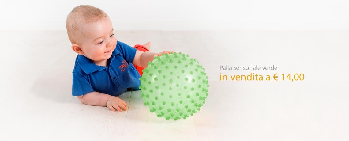 Palla sensoriale verde in vendita a 14,00 Euro.